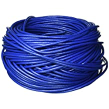 Monoprice 113676 Cat6 Bulk Bare Copper Ethernet Cable, UTP, Solid, Riser Rated (CMR), 500MHz, 23AWG, Blue