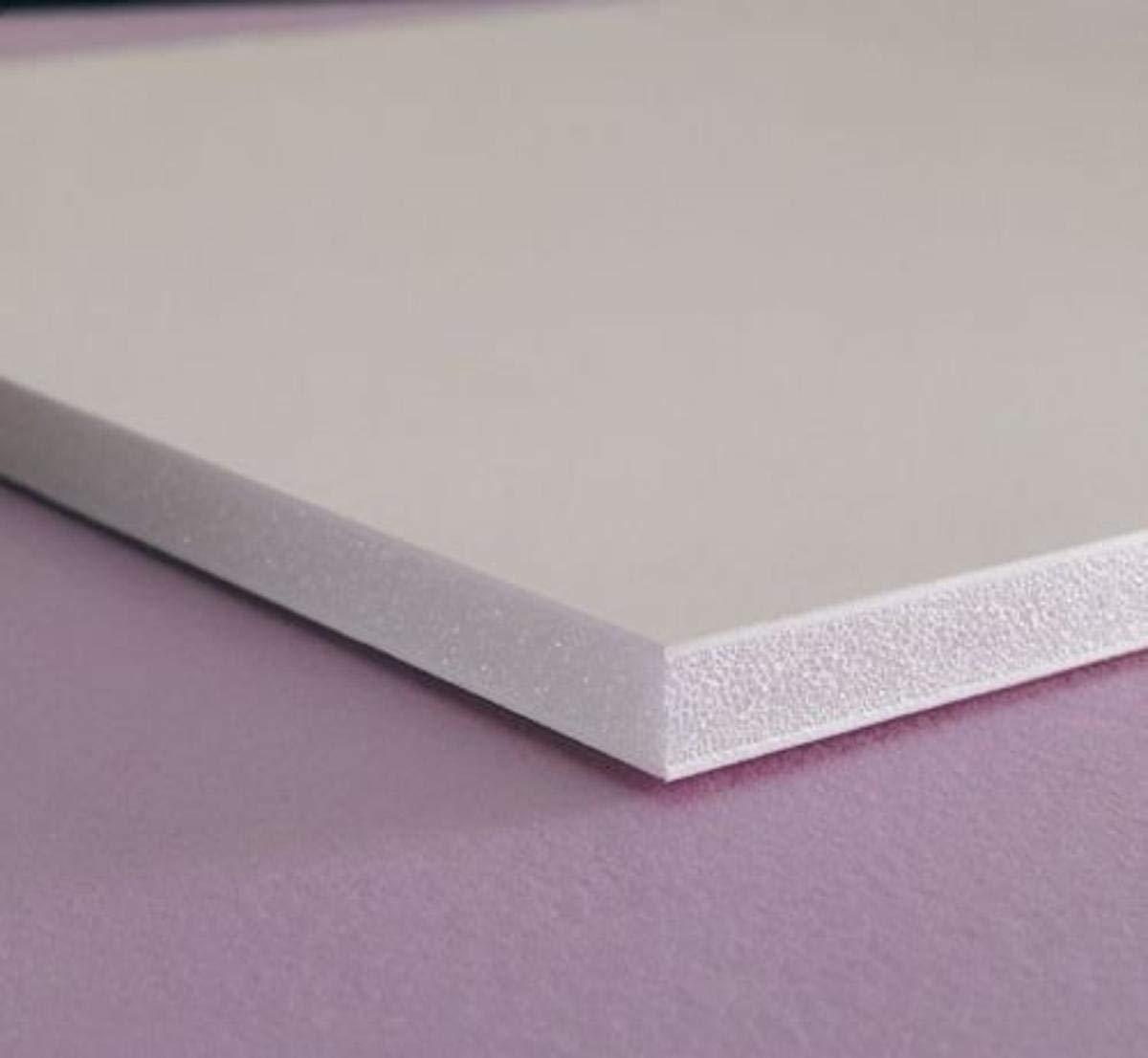 "White Expanded PVC Sheet 25mm x 24/"" x 48/"""