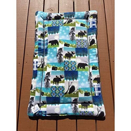 "Mountain Dog Bed, Crate Pad Medium Big Puppy Bedding Size 23x34x1.5"" Fits 24x36 Washable Dryable"