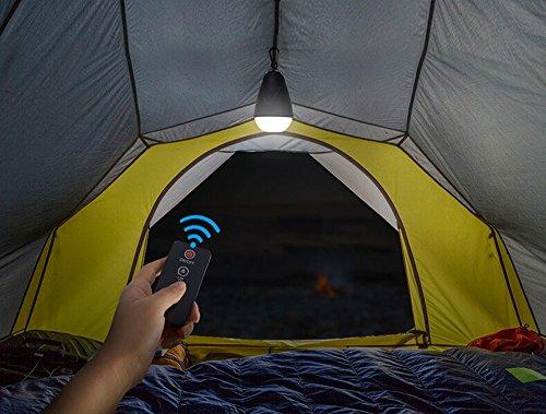 LED Aufladbare Campinglampe YYGIFT® Dimmbar Campingleuchte mit IR Fernbedienung USB-Anschlüsse zum Aufladen Karabiner ideal zum Camping Sport Wandern Unterwegs Angeln und auch Zuhauseping Sport Wandern Unterwegs oder einfach als Nachtlicht