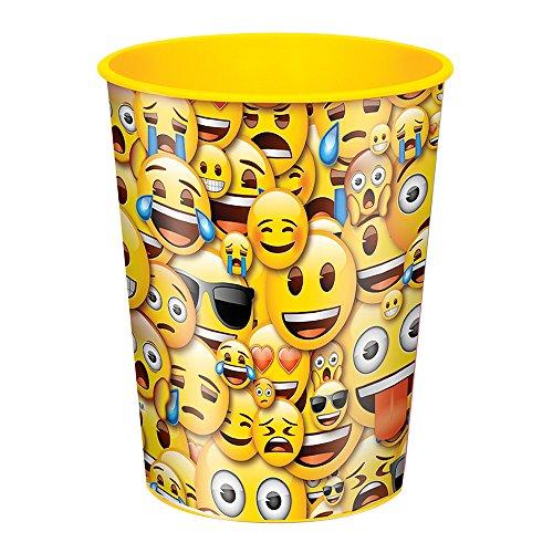 16oz Smile Emoji Plastic Cups, 12ct