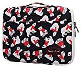 Canvaslove Polar Bear Pattern Conner Bottom Rebound Bubble Protection Waterproof Laptop Sleeve Case with Handle and Pockets for 15 Inch and 15.6 Inch Laptop