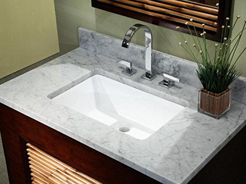 20.9 Inch Rectrangle Undermount Vitreous Ceramic Lavatory Vanity Bathroom Sink Pure White by Contempo Living Inc (Image #3)