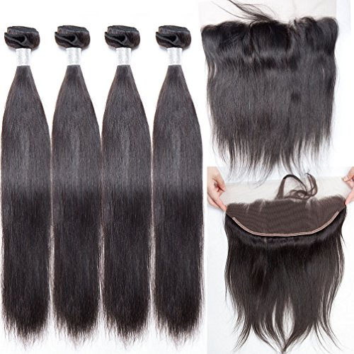 8a brazilian virgin straight hair weave 4 bundles with lace home pmusecretfo Choice Image