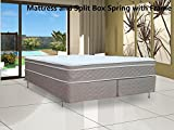 Fully Assembled Orthopedic Mattress and Split Box Spring with Frame
