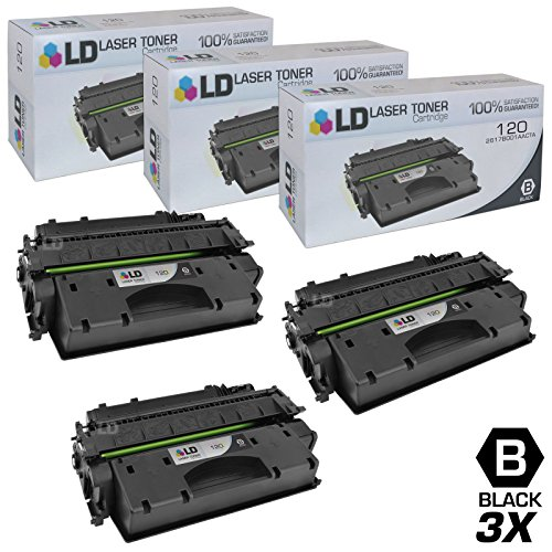LD Compatible Toner Cartridge Replacement for Canon 120 (Black, 3-Pack)