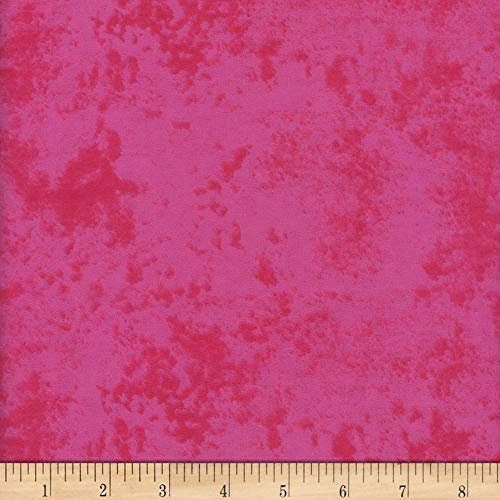Mook Fabrics USA LP Flannel Snuggy Marble Fabric, Hot Pink, Fabric By The Yard -