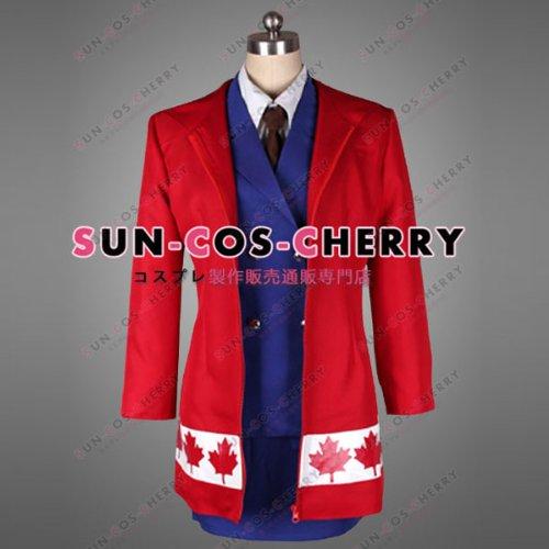 【サイズ選択可】コスプレ衣装 N-187 APHヘタリアAxis Powers にょたりあ カナダ 男性Mサイズ B01HJ8NY58 男性Mサイズ  男性Mサイズ