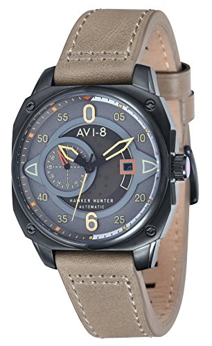 AVI-8 Hawker Hunter Automatic Grey Dial Mens Watch AV-4043-03