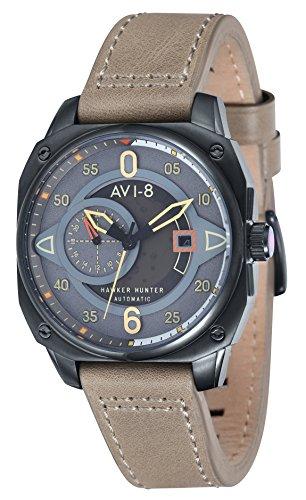 AVI-8 Hawker Hunter Automatic Grey Dial Mens Watch AV-4043-03