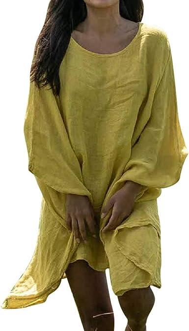 AIni Blusa De Mujer Moda Camisas De Manga Larga De MurciéLago Ligero De Gran TamañO Tops