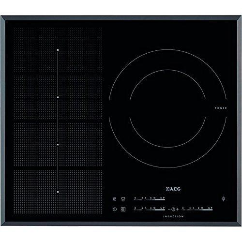AEG HKP65310FB hobs - Placa (Integrado, Inducción, Vidrio y cerámica, Sensor, Parte superior delantera, 7400W) Negro
