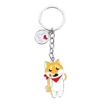Kanggest Kechain Puppy Metal Keyring Dog Key Chain Handbag Pendant Fashion  Keychain with Tag for Lady 4d4c4ac33