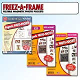 Clear Magnetic Picture Frames, Set of 4''x6'', 5''x7'' & 8.5''x11'' Magnetic Photo Frames for Refrigerator, Freez-A-Frame