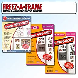 Clear Magnetic Picture Frames, Set of 4\
