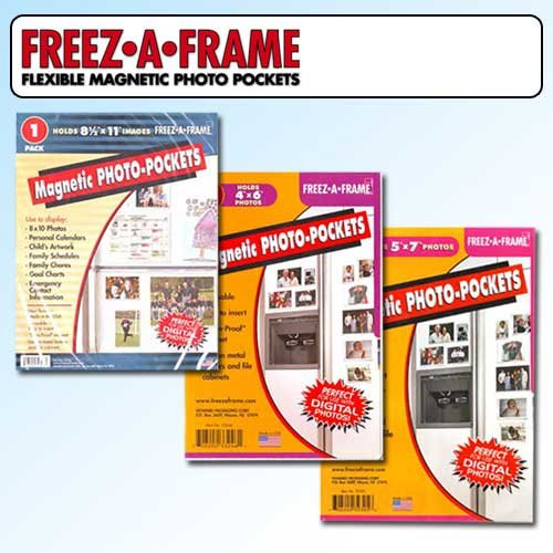 Clear Magnetic Picture Frames, Set of 4x6, 5x7 & 8.5x11 Magnetic Photo Frames for Refrigerator, Freez-A-Frame