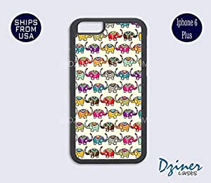 iPhone 6 Plus Case - Cute Baby Elephants iPhone Cover by Maris's Diary
