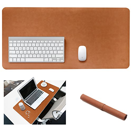 Yikda Extended leather Gaming Mouse Pad/Mat, Large Office Writing Desk Computer leather Mat Mousepad,Waterproof,Ultra Thin 1.2mm - 31.5