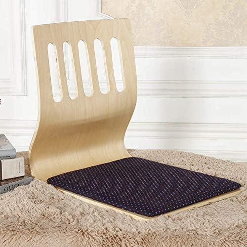 WUTRBYZ Wood Tatami Zaisu,Floor Chair Lazy Sofa Game Meditation Floor Seating with Back Support Legless Chair-E