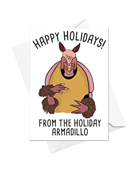 Christmas Armadillo Friends.Happy Holidays From The Holiday Armadillo Friends Ross Funny Christmas Card Great Gift Idea By Funky Ne Ltd Single