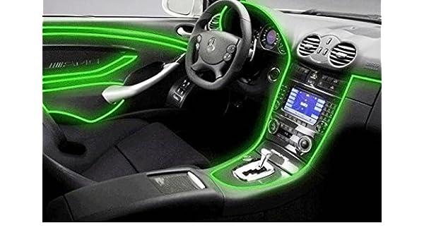Iluminación de ambiente Inion®, con inversor/adaptador de 12 voltios, color verde neón, 3 metrosTiras de luz para iluminación interior moderna.