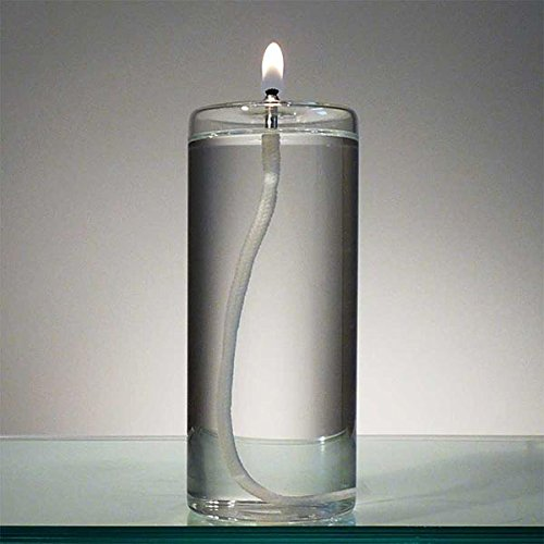 6-Inch Refillable Glass Pillar Candle - Memory, Unity and Window Candle without the Wax Mess - Use Alone, in a Candle Holder or Lantern - For use in the Interior of Your Home (Glass Oil Candle Unity)