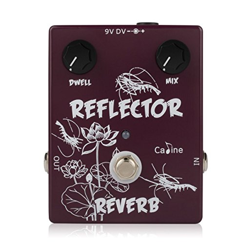- Caline Reverb Pedal Guitar Effects Acoustic Electric Guitar True Bypass Metal Pedal Reflector Brown CP-44