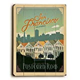 San Francisco California by Anderson Design Group 30''x40'' Planked Wood Sign Wall Decor Art