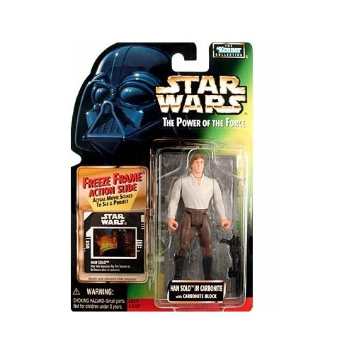 - Star Wars Power of the Force Freeze Frame Han Solo in Carbonite Action Figure