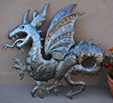 "3D Dragon Sculpture, Metal Artwork, Recycle Haiti Sculpture, 22"" X 22"""