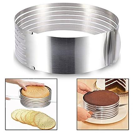 Itian Molde para laminar tartas, rebanador de la rebanada de la torta de la capa del ...