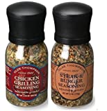 Olde Thompson Steak & Burger/ Chicken Grilling Seasonings Grinder Combo (Pack of 2)