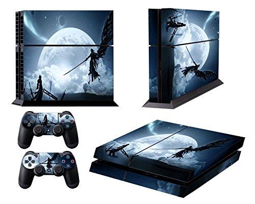 EBTY-Dreams Inc. - Sony Playstation 4 (PS4) - Final Fantasy VII (FFVII) Cloud & Sephiroth Vinyl Skin Sticker Decal -