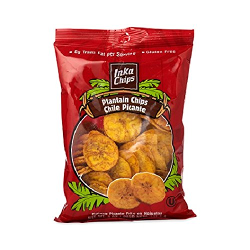 Inka Crops Inka Chips- Chile Picante Plantain chips,4 Ounce (Pack of 12)