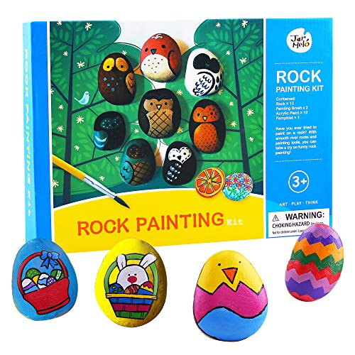 Jar Melo Rock Painting Kit; Non-Toxic; Rock Art; Creative Colorful Magic Stone; Art Creativity; Arts and Crafts Kits for Adults and Kids for $<!--$12.98-->