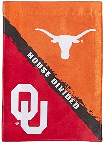 Oklahoma House Divided (NCAA Oklahoma-Texas 2-Sided Garden Flag-Rivalry House)
