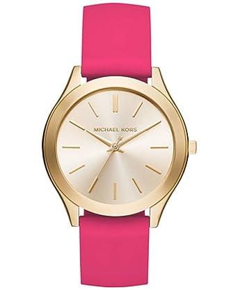 c86e002ad80b Amazon.com  Michael Kors Women s Slim Runway Sporty Pink Silicone Strap  Watch MK2510  Watches