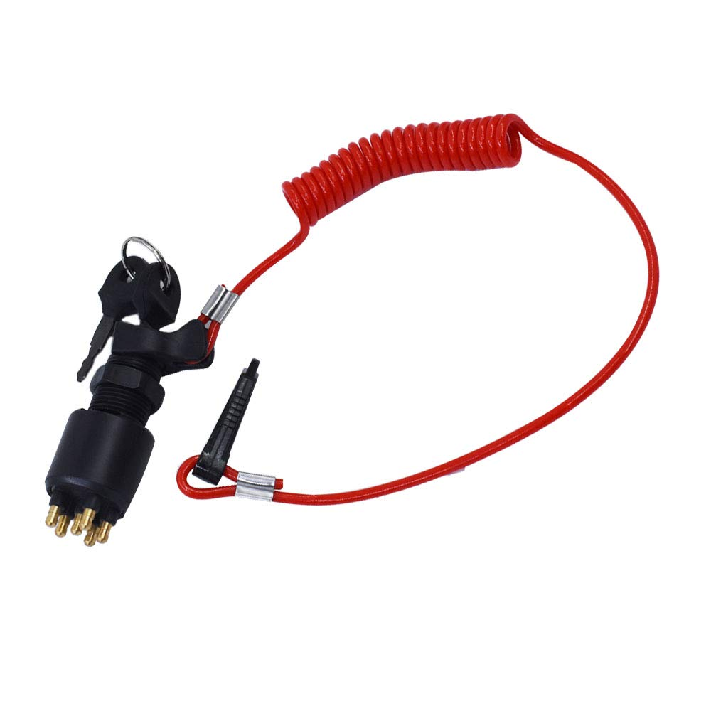 labwork Ignition Switch /& Lanyard Fit for BRP Johnson Outboard Motor 5005801 175974