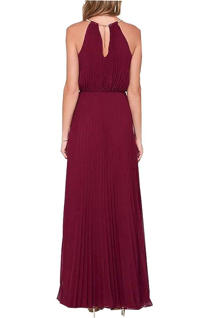 d116695cf FashionRun Halter Casual Maxi Dress Women's Chiffon Formal Evening Dress:  Amazon.ca: Clothing & Accessories