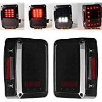 Nicebee LED Tail Lights with Running Brake Backup Reverse Turning Signal Light Tail Lamp Assembly for Jeep Wrangler JK 2007-2015