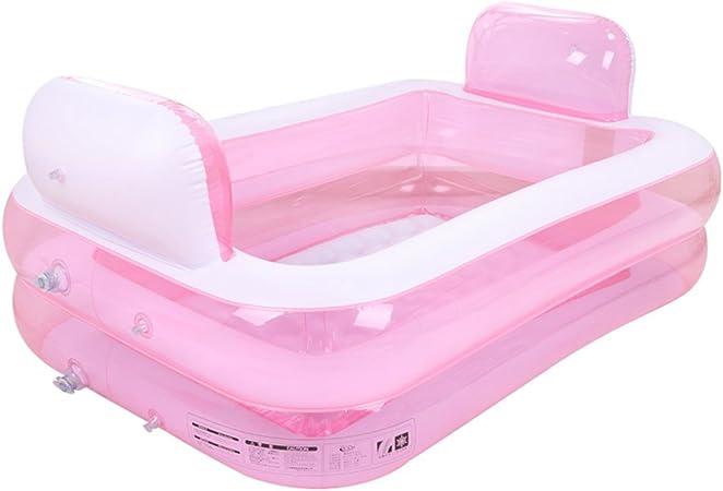 Bañeras con Jacuzzi Padre e Hijo Hinchable para Adultos Barril Plegable Piscina Individual (Color : Pink): Amazon.es: Hogar