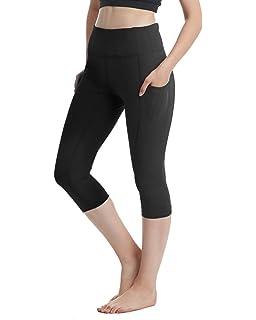 AILLOSA Women High Waist Yoga Pants with Side Pocket Tummy Control Workout Leggings