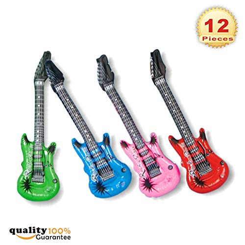 PMLAND Inflatable Rock Star Electric Guitar Toy - Pack of 1 Dozen]()