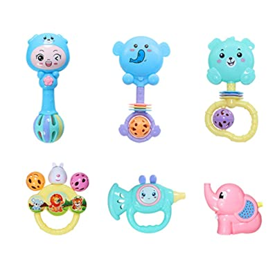 TOYANDONA 1 Set Baby Rattle Toys Handbells Educational Musical Instrument Early Development Supply for Baby Newborn: Toys & Games