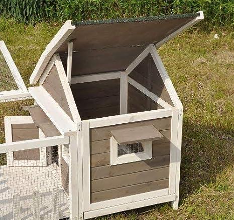 Nanook Felix, caseta para conejos enanos, hámsteres, cobayas, con parque y terraza, 143 x 74 x 82 cm.: Amazon.es: Productos para mascotas