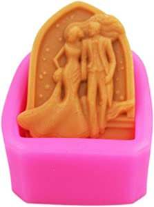 Longzang Lover Mould S372 Art Silicone Soap Craft DIY Handmade Candle Molds