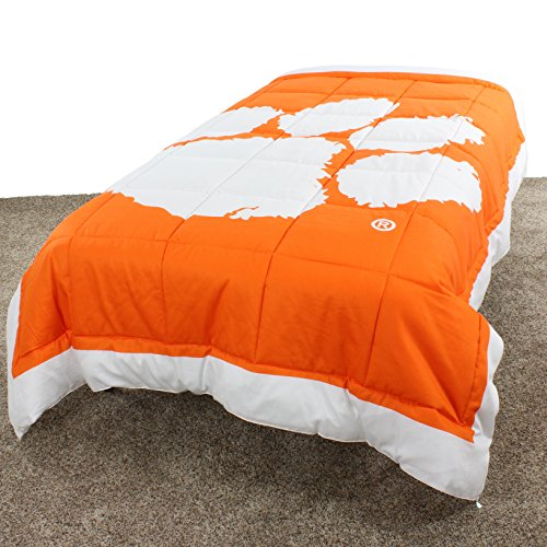 (College Covers Clemson Tigers Comforter Only Queen Team Color)