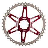Fouriers CR-DX008 Oversized Cassette Cog Shimano 40T Red