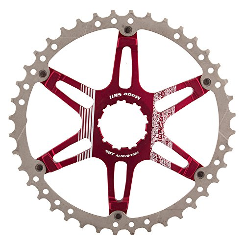 Fouriers CR-DX008 Oversized Cassette Cog Shimano 40T Red by Fouriers