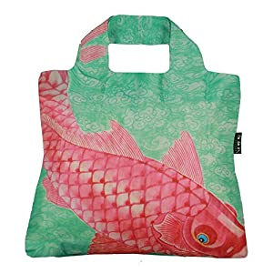 Envirosax Reusable Grocery Bags, Set of 5, Multicolored Jpanese Fish Design, CF Series